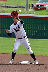 22 April 2017:  Riley Strandgard during a Missouri Valley Conference (MVC) women's softball game between the Missouri State Bears and the Illinois State Redbirds on Marian Kneer Field in Normal IL