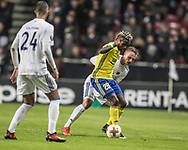 FOOTBALL: Ubong Ekpai (FC Zlin) and Pierre Bengtsson (FC København) in action during the UEFA Europa League Group F match between FC København and FC Zlin at Parken Stadium, Copenhagen, Denmark on November 2, 2017. Photo: Claus Birch