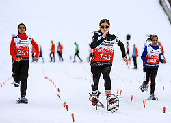 17.03.2017, Ramsau am Dachstein, AUT, Special Olympics 2017, Wintergames, Schneeschuhlauf, Divisioning 100 m, im Bild Yuen Ling Law (HKG), BIB 143 // during the Snowshoeing Divisioning 100 m at the Special Olympics World Winter Games Austria 2017 in Ramsau am Dachstein, Austria on 2017/03/17. EXPA Pictures © 2017, PhotoCredit: EXPA / Martin Huber