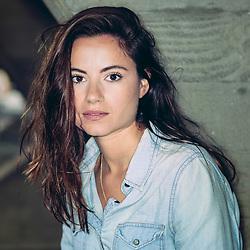 Dancer, model and actress Aude Florentin. London, September 2015.