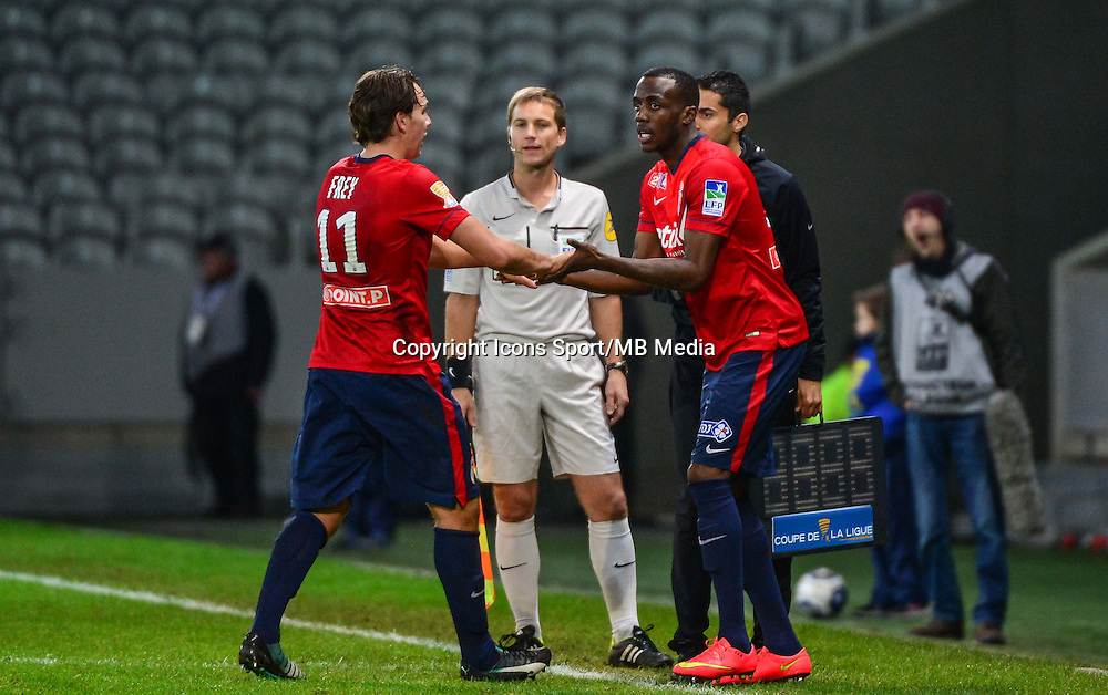 Kevin KOUBEMBA / Michael FREY - 14.01.2014 - Lille / Nantes - 1/4Finale Coupe de la Ligue<br /> Photo : Dave Winter / Icon Sport