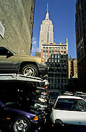 New York. parking lot and The empire state building / Manhattan  New York  Usa /  l'empire state building Manhattan  New York  USa