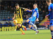 Anthony O'Connor, Jim McNulty during the Sky Bet League 1 match between Rochdale and Burton Albion at Spotland, Rochdale, England on 30 January 2016. Photo by Daniel Youngs.
