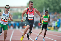 POPOW Heinrich, GER, 100m, T42, 2013 IPC Athletics World Championships, Lyon, France