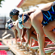 21 September 2018: The San Diego State women's swim team hosted a dual relay meet against Nevada and Washington State Friday afternoon at the Aztec Aquaplex