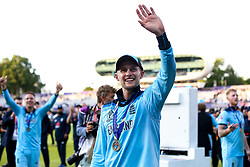 Joe Root of England celebrates winning The Cricket World Cup - Mandatory by-line: Robbie Stephenson/JMP - 14/07/2019 - CRICKET - Lords - London, England - England v New Zealand - ICC Cricket World Cup 2019 - Final