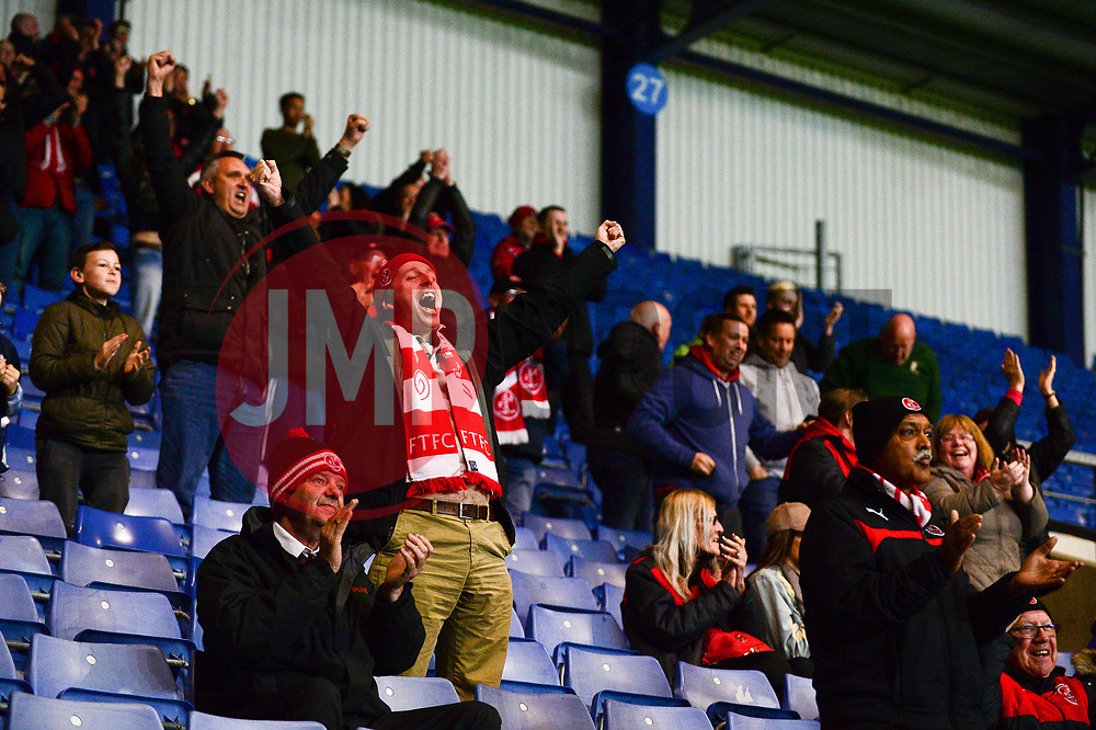 Fleetwood Town fans celebrate a goal  - Mandatory by-line: Dougie Allward/JMP - 05/04/2017 - FOOTBALL - Kassam Stadium - Oxford, England - Oxford United v Fleetwood Town - Sky Bet League One