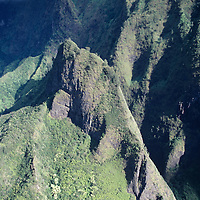 Hawaii, Maui, The Valley Island, aerial view of Iao Valley