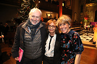 Nick Allot, Audrey Hoare and Lucy Morris attend the Nordoff Robbins Carol Service 2019, St Luke's Church, Chelsea, London, UK, Tuesday 10 December 2019<br /> Photo JM Enternational