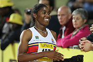 PRETORIA, SOUTH AFRICA, Friday 20 April 2012, Caster Semenya after qualifying for the London Olympics during the Yellow Pages Series 3 held at the Absa Tuks stadium..Photo by Roger Sedres/ImageSA/ASA