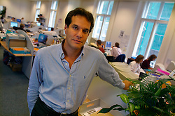UK ENGLAND LONDON 18SEP03 - Co-founder of  Lastminute.com Brent Hoberman poses for a portrait at their corporate HQ in central London. Lasminute.com floated its shares on the stock market at the height of the dot com frenzy in March 2000 and has emerged as one of the winners of the dot.com era.....jre/Photo by Jiri Rezac....© Jiri Rezac 2003....Contact: +44 (0) 7050 110 417..Mobile:  +44 (0) 7801 337 683..Office:  +44 (0) 20 8968 9635....Email:   jiri@jirirezac.com..Web:     www.jirirezac.com