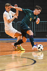 Matej Fidersek of Slovenia and Murilo Ferreira Juliao of Italy during futsal friendly match between National teams of Slovenia and Italy, on December 3, 2019 in Maribor, Slovenia. Photo by Milos Vujinovic / Sportida