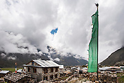 General view over Kyanjin Gompa Village, Langtang Valley, Nepal, on the 28th May 2009<br /> <br /> The village of Kyanjin Gompa was partially destroyed by the earthquake that struck Nepal at 11.56am on the 25th April 2015. <br /> <br /> PHOTOGRAPH BY AND COPYRIGHT OF SIMON DE TREY-WHITE<br /> <br /> + 91 98103 99809<br /> email: simon@simondetreywhite.com<br /> photographer in delhi