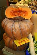 open pumpkins in market place