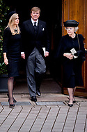 21 -3-2017 BAD BERLEBURG - King Willem-Alexander, Queen Beatrix and Princess Maxima , Princess Benedikte of Denmark<br /> Prince Gustav zu Sayn-Wittgentein-Berleburg and Carina Axelsson<br /> Princess Alexandra zu Sayn-Wittgentein-Berleburg and Carina Axelsson and Count Jefferson<br /> Princess Nathalie zu Sayn-Wittgentein-Berleburg and Alexander Johannsmann Queen Anne-Marie and Princess Theodora of Greece, King Constantine and Queen Anne-Marie and Princess Theodora of Greece<br /> Crown Prince Pavlos and Crown Princess Marie Chantal of Greece<br /> Prince and Nikolaos and Princess Tatiana of Greece ,  Princess Martha Louise of Norway Queen Margrethe and Prince Henrik of Denmark<br /> Crown Prince Frederik and Crown Princess Mary of Denmark<br /> Prince Joachim and Princess Marie of Denmark Queen Silvia of Sweden<br /> Princess Madeleine of Sweden are Tuesday at the Evangelical City Church of Bad Berleburg attended the memorial service for Prince Richard of Sayn-Wittgenstein-Berleburg. The husband of the Danish Princess Benedikte and brother of Queen Margrethe died last Monday at the age of 82. COPYRIGHT ROBIN UTRECHT<br /> 21 -3-2017 BAD BERLEBURG – Koning Willem-Alexander, koningin Maxima en prinses Beatrix zijn dinsdagmiddag in de Evangelische Stadskerk van Bad Berleburg aanwezig bij de rouwdienst voor prins Richard zu Sayn-Wittgenstein-Berleburg. De echtgenoot van de Deense prinses Benedikte en zwager van koningin Margrethe overleed vorige week maandag op 82-jarige leeftijd. COPYRIGHT ROBIN UTRECHT