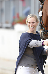 59839685 <br /> Zara Phillips, daughter of Princess Anne and Granddaughter of the British Queen at Luhmühlen, before the Jump in Look, Salzhausen in Germany, June 16, 2013. UK ONLY