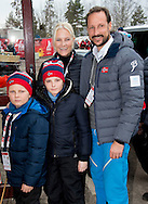 1-3-2014 - FALUN Princess Estelle and princess Victoria , prince Daniel  , prince Carl Philip and king Carl Gustaf and Queen Silvia  and Crown Prince Haakon and Crown Princess Mette-Marit and Princess Ingrid Alexandra and Prince Sverre Magnus of Norway  during Falun 2015 FIS Nordic World Ski Championships 2015 in Sweden . COPYRIGHT ROBIN UTRECHT