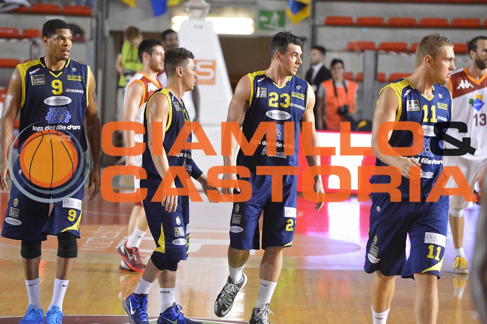 DESCRIZIONE : Roma Lega A 2012-2013 Acea Roma Sutor Montegranaro<br /> GIOCATORE : team<br /> CATEGORIA : delusione<br /> SQUADRA : Sutor Montegranaro<br /> EVENTO : Campionato Lega A 2012-2013 <br /> GARA : Acea Roma Sutor Montegranaro<br /> DATA : 05/05/2013<br /> SPORT : Pallacanestro <br /> AUTORE : Agenzia Ciamillo-Castoria/ GiulioCiamillo<br /> Galleria : Lega Basket A 2012-2013  <br /> Fotonotizia : Roma Lega A 2012-2013 Acea Roma Sutor Montegranaro<br /> Predefinita :