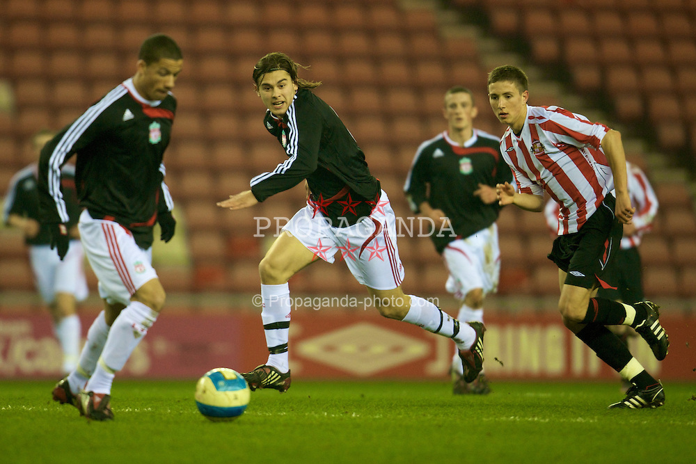 SUNDERLAND, ENGLAND - Wednesday, February 13, 2008: Liverpool's Astrit Ajdarevic during the FA Youth Cup 5th Round match against Sunderland at the Stadium of Light. (Photo by David Rawcliffe/Propaganda)