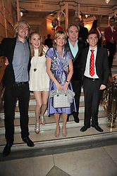 ANDREW & MADELEINE LLOYD WEBBER and their children ALASTAIR LLOYD WEBBER, ISABELLA LLOYD WEBBER and WILLIAM LLOYD WEBBER arrive at the press night of the new Andrew Lloyd Webber  musical 'The Wizard of Oz' at The London Palladium, Argylle Street, London on 1st March 2011 followed by an aftershow party at One Marylebone, London NW1