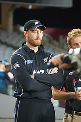 March 4, 2017 - Auckland, New Zealand - Martin Guptill of New Zealand looks dejected after losing    the final match of  One Day International series between New Zealand and South Africa at Eden Park on March 4, 2017 in Auckland, New Zealand (Credit Image: © Shirley Kwok/Pacific Press via ZUMA Wire)