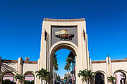 Universal Orlando Resort enterance gate, Orlando, Florida, USA