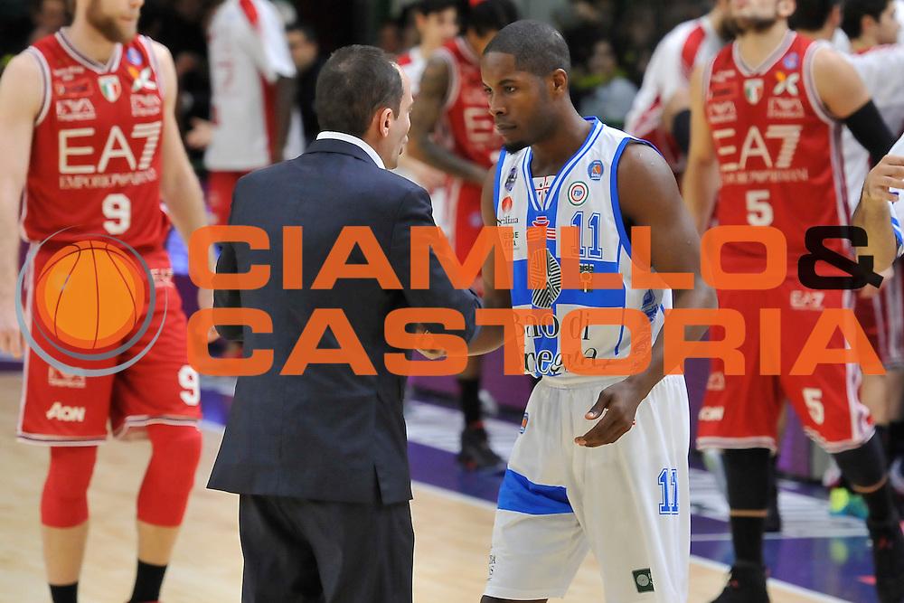 DESCRIZIONE : Campionato 2014/15 Dinamo Banco di Sardegna Sassari - Olimpia EA7 Emporio Armani Milano<br /> GIOCATORE : Paolo Citrini Jerome Dyson<br /> CATEGORIA : Fair Play Before<br /> SQUADRA : Dinamo Banco di Sardegna Sassari<br /> EVENTO : LegaBasket Serie A Beko 2014/2015<br /> GARA : Dinamo Banco di Sardegna Sassari - Olimpia EA7 Emporio Armani Milano<br /> DATA : 07/12/2014<br /> SPORT : Pallacanestro <br /> AUTORE : Agenzia Ciamillo-Castoria / Luigi Canu<br /> Galleria : LegaBasket Serie A Beko 2014/2015<br /> Fotonotizia : Campionato 2014/15 Dinamo Banco di Sardegna Sassari - Olimpia EA7 Emporio Armani Milano<br /> Predefinita :