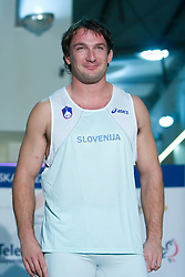 Olympic winner Primoz Kozmus at fashion show of new jerseys of Slovenian Athletic National Team, on October 28, 2008, in Mercator center Siska, Ljubljana, Slovenia. (Photo by Vid Ponikvar / Sportal Images).