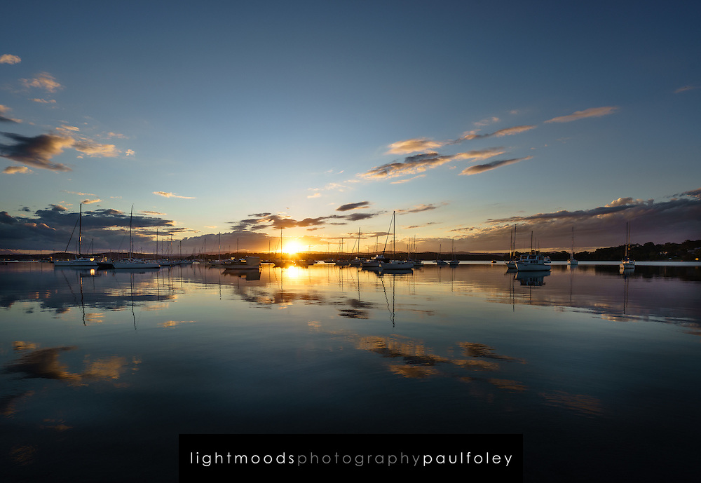 Sunset at Valentine, Lake Macquarie, NSW, Australia