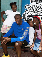 Usain Bolt at Puma Fastlaab shoot in Kingston Jamaica 2010