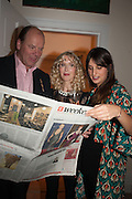 MARK ETHERINGTON; BASIA BRIGGS; CASSIDY VINCENT Drinks party given by Basia and Richard Briggs,  Chelsea. London. SW3. 13 February 2014.