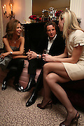 HEATHER KERZNER, TIM ATTIAS AND JO MANOUKIAN. Dinner hosted by Elizabeth Saltzman for Donatella Versace. Claridge's Hotel, Brook Street, Mayfair, London. 11 March 2008.  *** Local Caption *** -DO NOT ARCHIVE-© Copyright Photograph by Dafydd Jones. 248 Clapham Rd. London SW9 0PZ. Tel 0207 820 0771. www.dafjones.com.