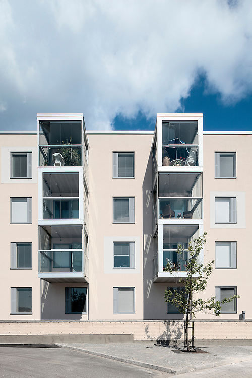 Palvelutalo Hoiva / Hoiva serviced apartments and home for the aged in Helsinki, Finland designed by JKMM architects.