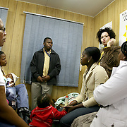 July 12, 2006 - HIV positive patients receive counseling at the Carlisle Street Clinic in Durban, South Africa, during Clinton's visits with patients on his tour Africa. Photo by Evelyn Hockstein