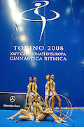 © Filippo Alfero<br /> Torino , 05/06/2008<br /> sport , ginnastica ritmica<br /> XXIV Campionati d'Europa di Ginnastica Ritmica Torino 2008<br /> Nella foto: la squadra italiana - medaglia di bronzo<br /> <br /> © Filippo Alfero<br /> Turin , Italy , 05/06/2008<br /> gymnastics<br /> 24th Rithmic Gymnastics European Championships - Torino 2008<br /> In the photo: the italian team - bronze medal