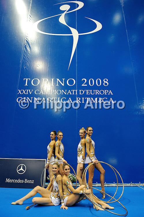 &copy; Filippo Alfero<br /> Torino , 05/06/2008<br /> sport , ginnastica ritmica<br /> XXIV Campionati d'Europa di Ginnastica Ritmica Torino 2008<br /> Nella foto: la squadra italiana - medaglia di bronzo<br /> <br /> &copy; Filippo Alfero<br /> Turin , Italy , 05/06/2008<br /> gymnastics<br /> 24th Rithmic Gymnastics European Championships - Torino 2008<br /> In the photo: the italian team - bronze medal
