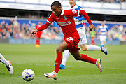Charlton Athletic striker Ademola Lookman (37) during the Sky Bet Championship match between Queens Park Rangers and Charlton Athletic at the Loftus Road Stadium, London, England on 9 April 2016. Photo by Andy Walter.