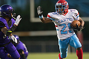 Bernard Goodwater (29) of the Carter Cowboys breaks free against the Lincoln Tigers during a high school football game at Forester Stadium in Dallas, Texas on September 18, 2015. (Cooper Neill/Special Contributor)