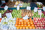 A display of fresh fruit at a Farmers Market in Seattle. Missoula Photographer
