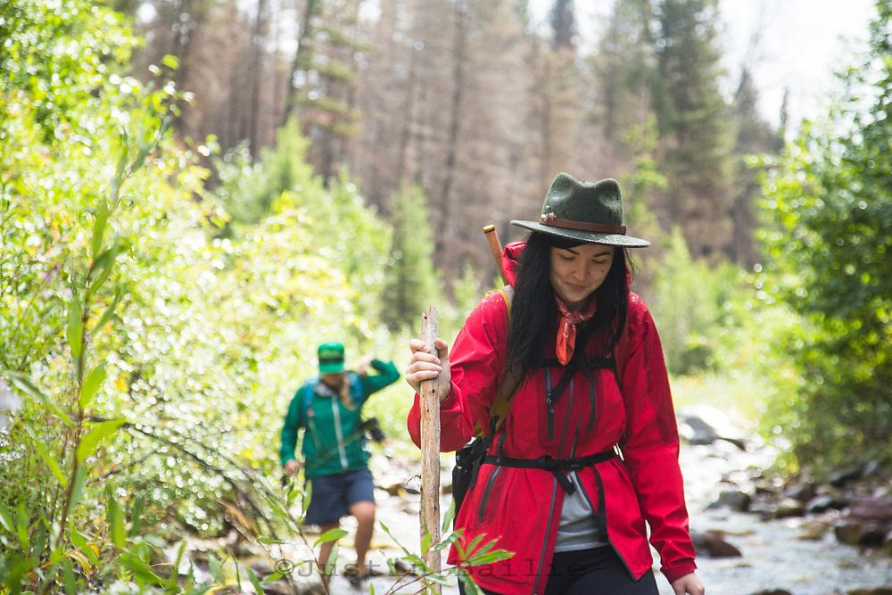 Hiking Montana.