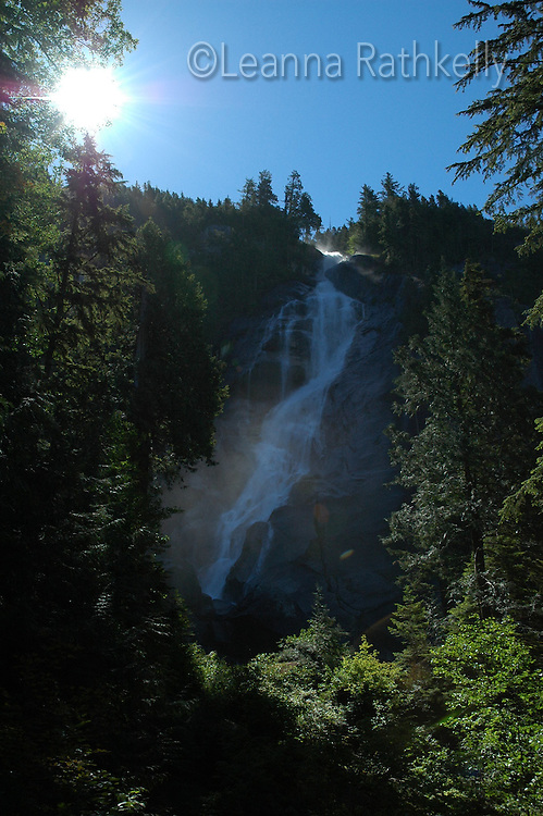 Shannon Falls, summer, at Squamish BC Canada