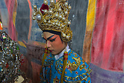 A small independent chinese opera troupe performs in bangkok's Chinatown