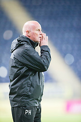 Falkirk's manager Peter Houston.<br /> Falkirk beat Cowdenbeath in a penalty shoot-out, second round League Cup tie played at The Falkirk Stadium.