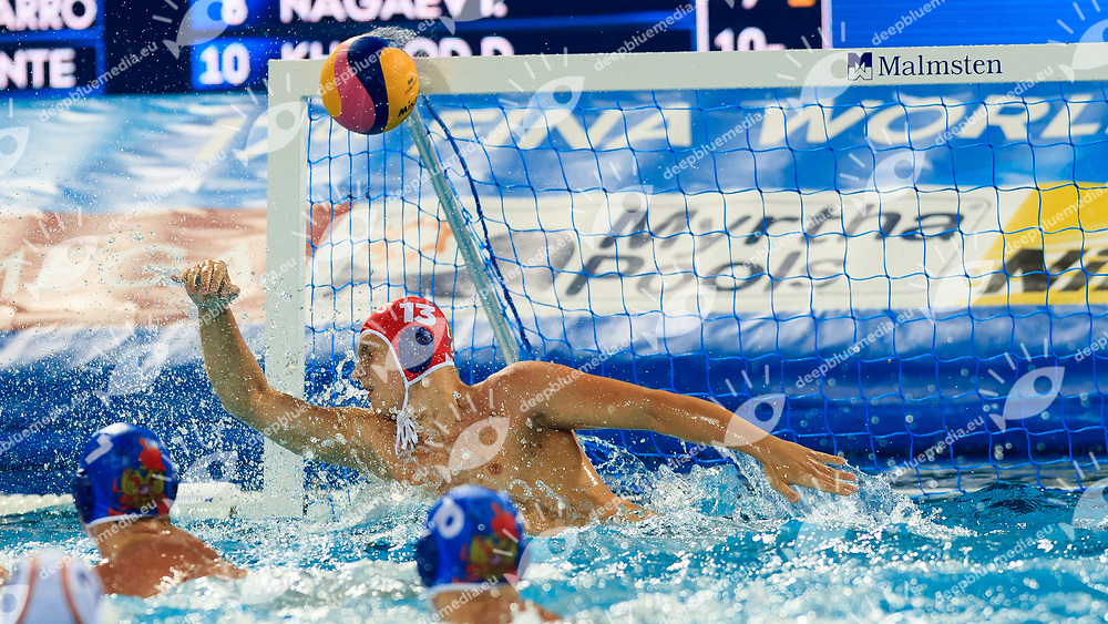 [prsn]<br /> Spain (white cap) -  Russia (blue cap)<br /> Preliminary Round Water Polo Women<br /> Day10  23/07/2017 <br /> XVII FINA World Championships Aquatics<br /> Alfred Hajos Complex Margaret Island  <br /> Budapest Hungary <br /> Photo @Deepbluemedia/Insidefoto Photo @Marcelterbals/Deepbluemedia/Insidefoto