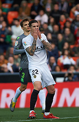 February 10, 2019 - Valencia, Valencia, Spain - Santi Mina of Valencia CF reacts during the La Liga match between Valencia and Real Sociedad at Estadio de Mestalla on February 10, 2019 in Valencia, Spain. (Credit Image: © Maria Jose Segovia/NurPhoto via ZUMA Press)