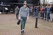 Leeds United defender Luke Ayling (2) arriving during the EFL Sky Bet Championship match between Huddersfield Town and Leeds United at the John Smiths Stadium, Huddersfield, England on 7 December 2019.