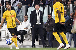 October 2, 2018 - Turin, Italy - Young Boys coach Gerardo Seoane during the Uefa Champions League Group Stage football match n.2 JUVENTUS - YOUNG BOYS on 02/10/2018 at the Allianz Stadium in Turin, Italy. (Credit Image: © Matteo Bottanelli/NurPhoto/ZUMA Press)