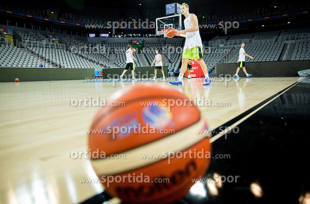 Jaka Blazic during practice session of Slovenia National Basketball Team 1 day prior to the FIBA Europe Eurobasket 2015, on September 4, 2015, in Arena Zagreb, Croatia. Photo by Vid Ponikvar / Sportida