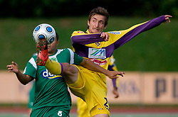 Joao Gabrijel Da Silva of Olimpija vs Armin Bacinovic of Maribor at 13th Round of Prva Liga football match between NK Olimpija and Maribor, on October 17, 2009, in ZAK Stadium, Ljubljana. Maribor won 1:0. (Photo by Vid Ponikvar / Sportida)