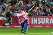 Paul Stirling of Middlesex plays an attacking shot during the Vitality T20 Blast South Group match between Somerset County Cricket Club and Middlesex County Cricket Club at the Cooper Associates County Ground, Taunton, United Kingdom on 30 August 2019.